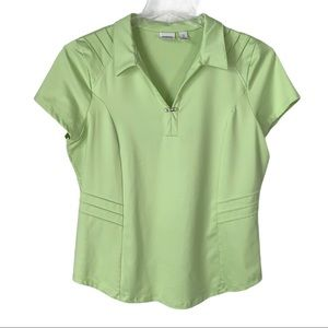 Chico's Zenergy Golf polo size 2 or large green